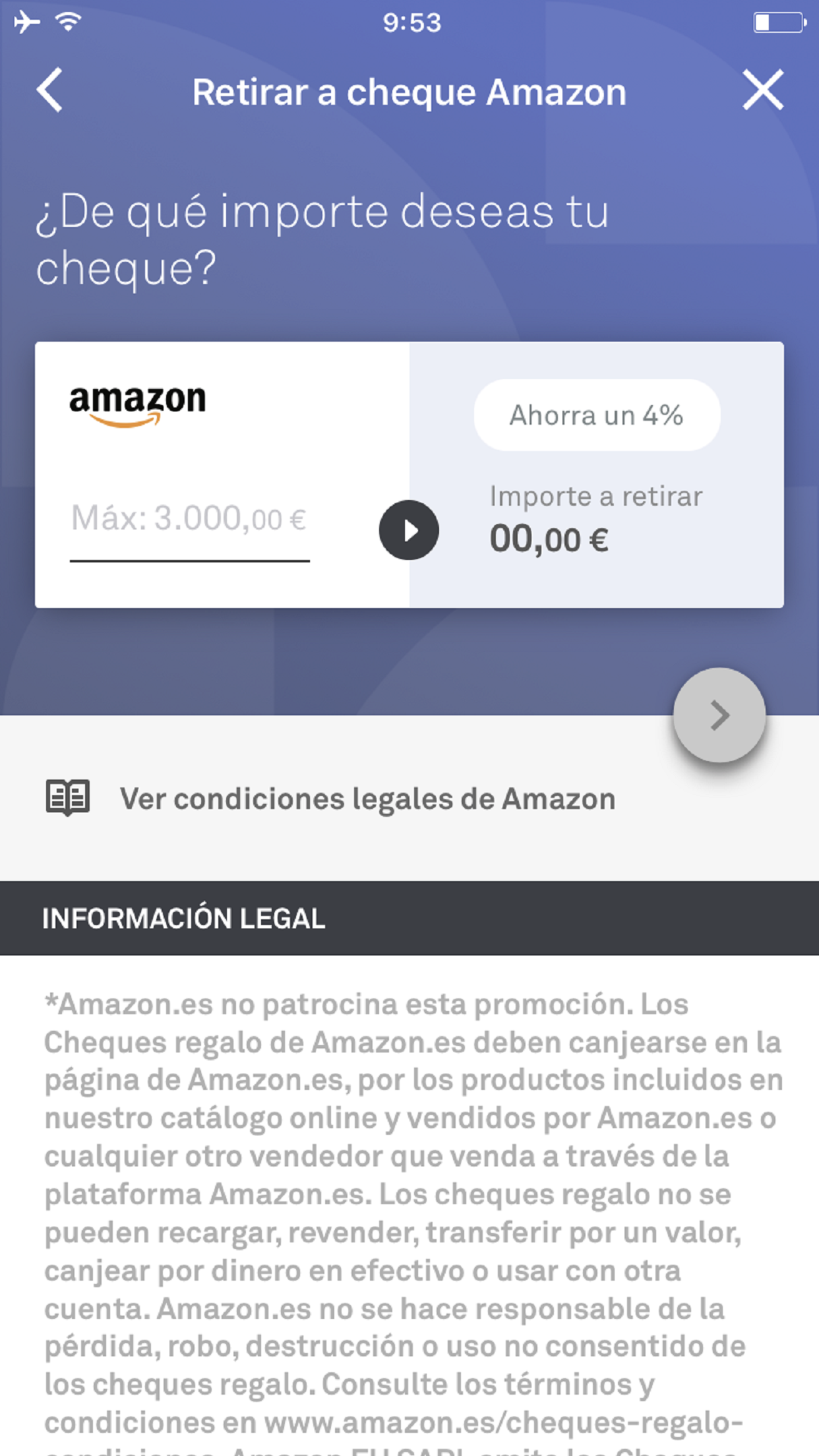 Retirar cheque regalo amazon coinc