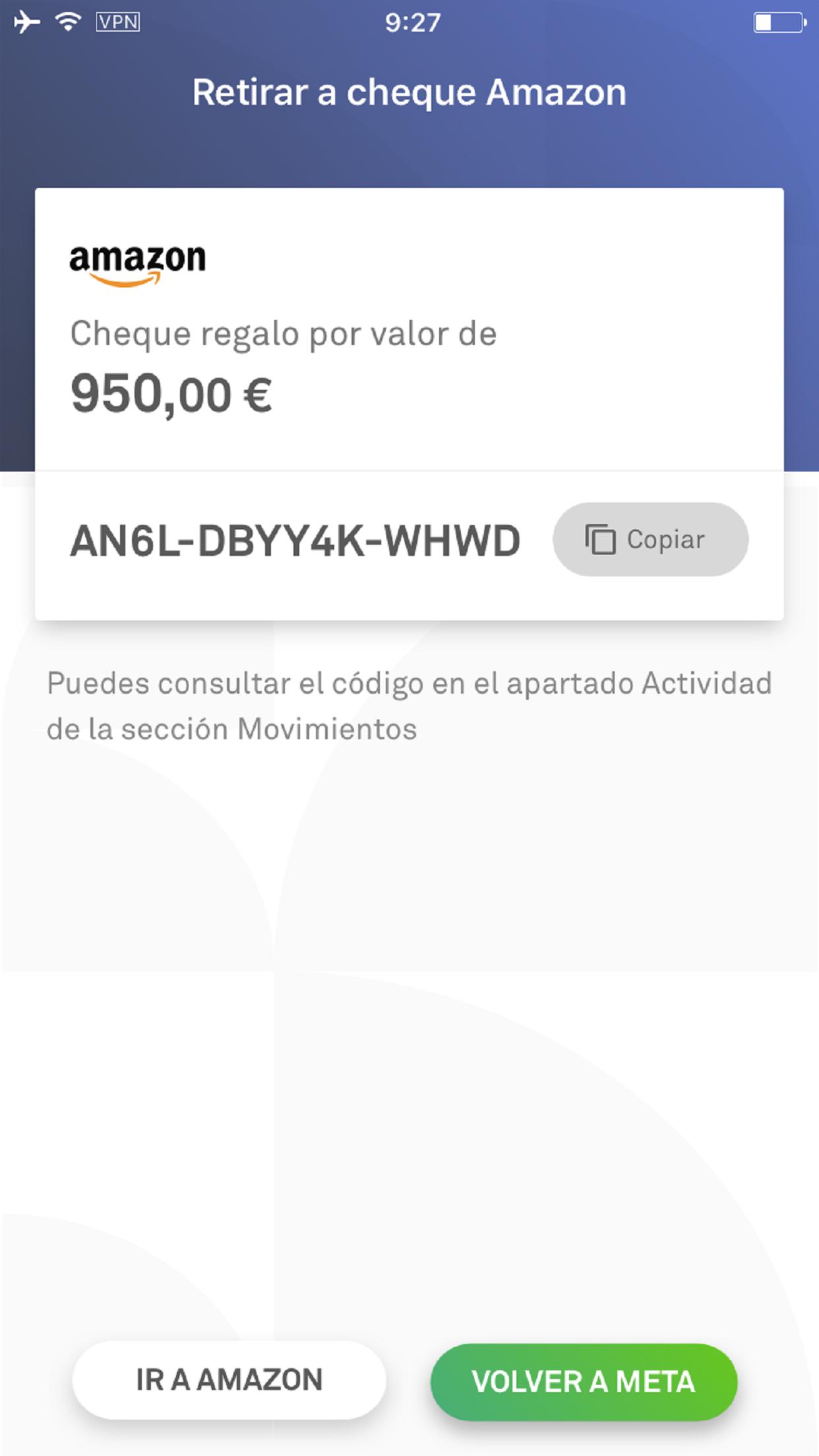 COMPRAR CHEQUE REGALO AMAZON.DE